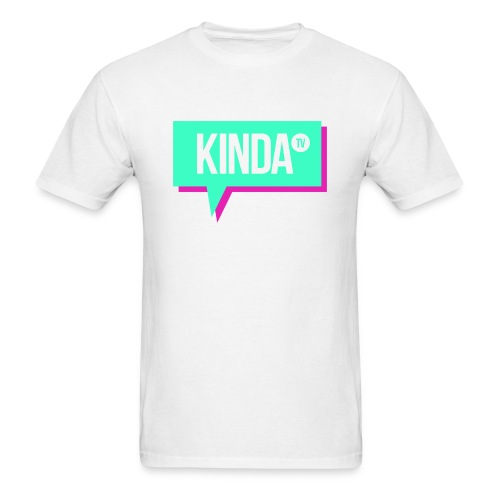 Green w/ Pink KindaTV Logo Men's T-Shirt - Men's T-Shirt