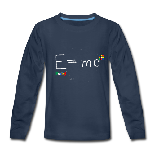 E equals mc Cube white - Kids' Premium Long Sleeve T-Shirt