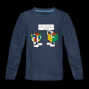 Rubik's Cube Complicate Things - Kids' Premium Long Sleeve T-Shirt