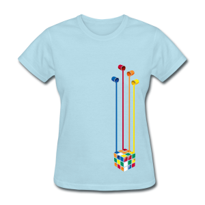Rubik's Cube Colourful Paint Buckets - Women's T-Shirt