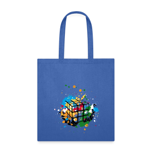 Rubik's Cube Colour Splatters - Tote Bag