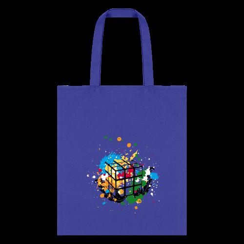 Rubik's Cube Colour Splatters - Tote Bag