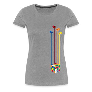 Rubik's Cube Colourful Paint Buckets - Women's Premium T-Shirt