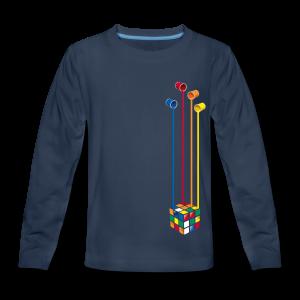 Rubik's Cube Colourful Paint Buckets - Kids' Premium Long Sleeve T-Shirt