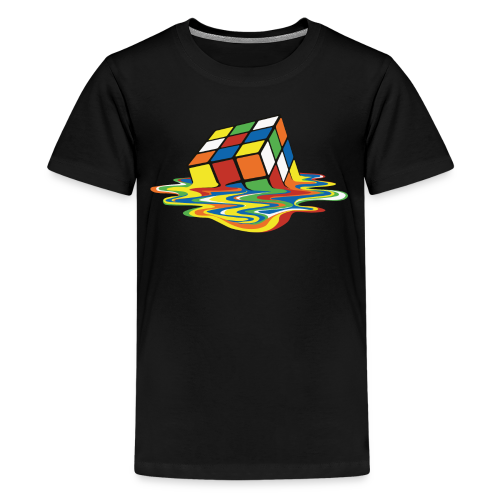 Rubik's Cube Melting Cube - Kids' Premium T-Shirt