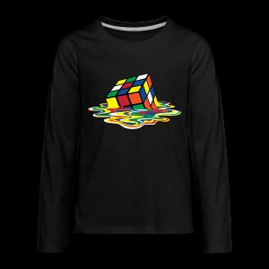 Rubik's Cube Melting Cube - Kids' Premium Long Sleeve T-Shirt