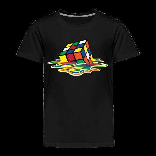 Rubik's Cube Melting Cube - Toddler Premium T-Shirt
