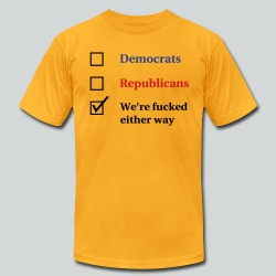 Election Ballot - We're Fucked - Men's T-Shirt by American Apparel