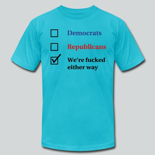 Election Ballot - We're Fucked - Men's  Jersey T-Shirt