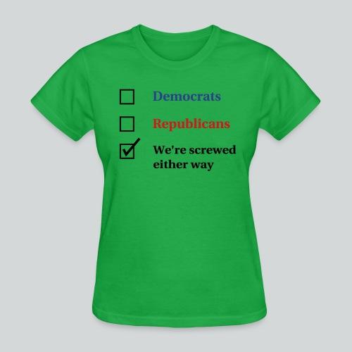 Election Ballot - We're Screwed - Women's T-Shirt