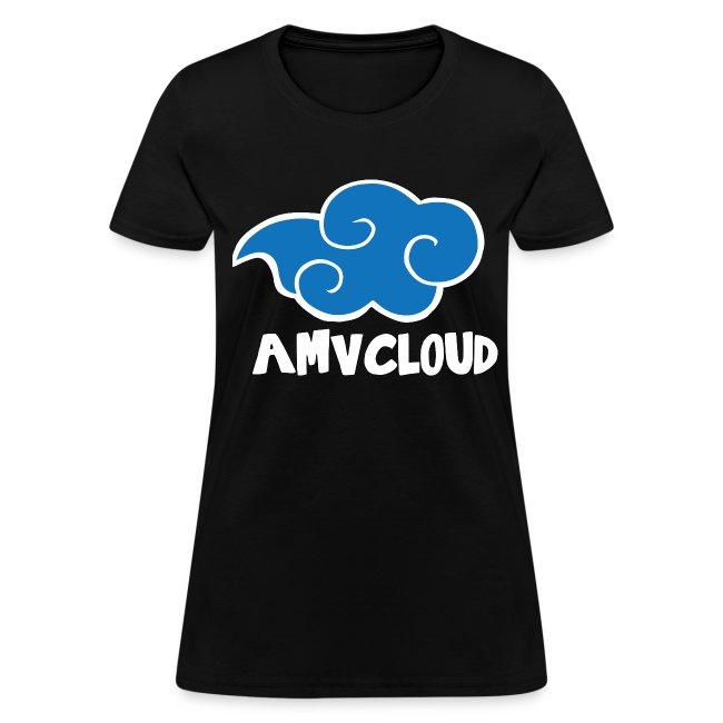 AmvCloud logo + Blue Cloud Women's T-shirt