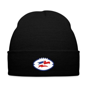Screaming Eagles Logo in Ball Beanie - Knit Cap with Cuff Print