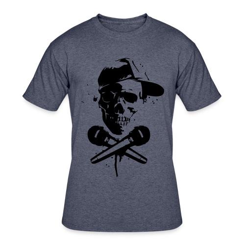 Skull and Mic Shirt - Men's 50/50 T-Shirt