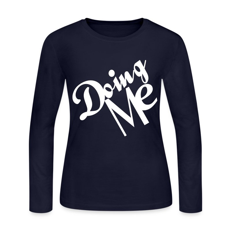 Doing Me White - Women's Long Sleeve Jersey T-Shirt