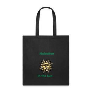 Nakation in the Sun-Black Letters - Tote Bag