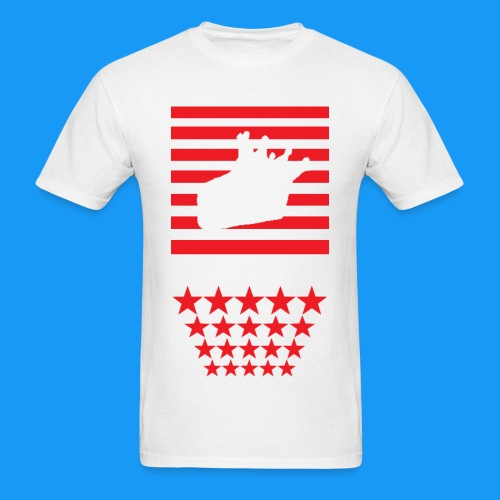 Star n Stripes KC Logo #2 - Men's T-Shirt