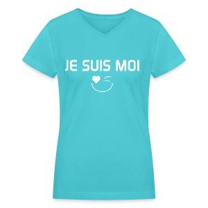 JE SUIS MOI - 100%cotton - T-shirt avec encolure en V pour femmes