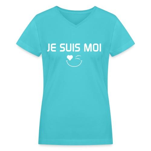 JE SUIS MOI - 100%cotton - Women's V-Neck T-Shirt