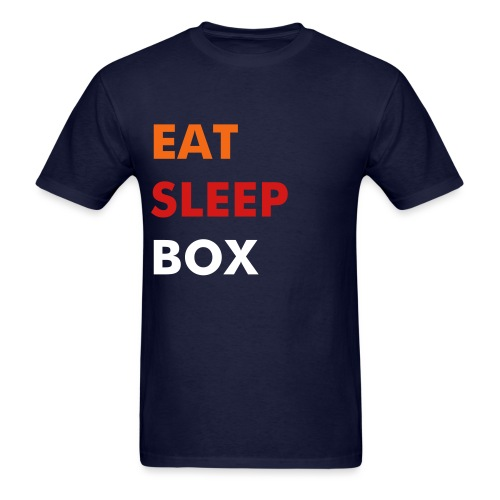 Eat Sleep Box  - Men's T-Shirt