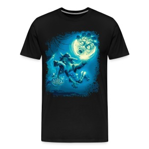 Basketballin' Werewolf - Men's Premium T-Shirt