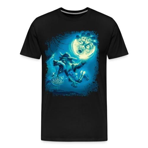 Basketballin' Werewolf - Men's Premium T-Shirt