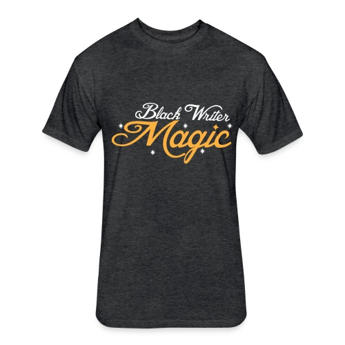 Black Writer Magic Men's T-Shirt - Fitted Cotton/Poly T-Shirt by Next Level