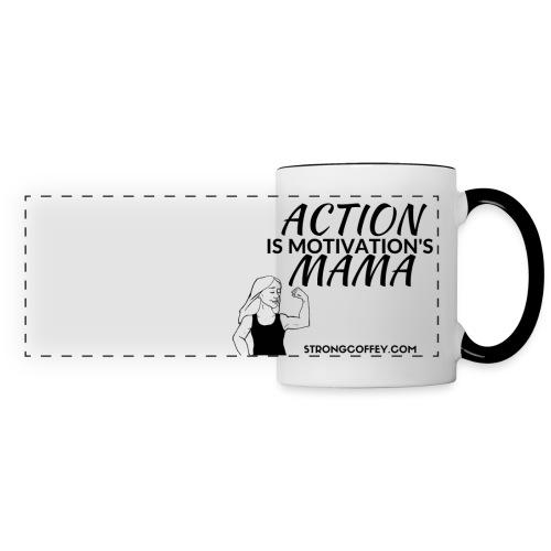 Action is Motivation's Mama Two-Color Mug - Panoramic Mug