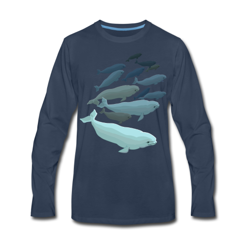 Beluga Whale T-shirts Men's Long Sleeve - Men's Premium Long Sleeve T-Shirt