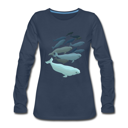 Beluga Whale T-shirts Women's Long Sleeve - Women's Premium Long Sleeve T-Shirt