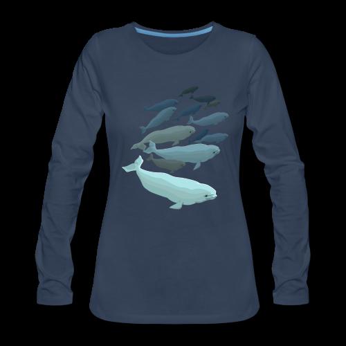 Beluga Whale T-shirts Women's Long Sleeve - Women's Premium Long Sleeve T-Shirt