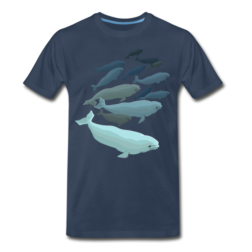 Beluga Whale T-shirts Men's Plus Size - Men's Premium T-Shirt