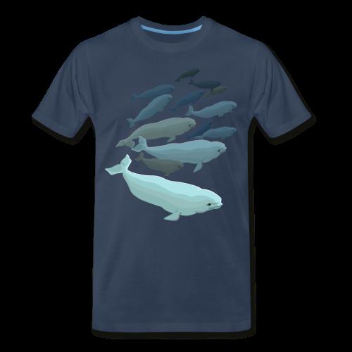 Beluga Whale T-shirts Men's Plus Size - Men's Premium T-Shirt