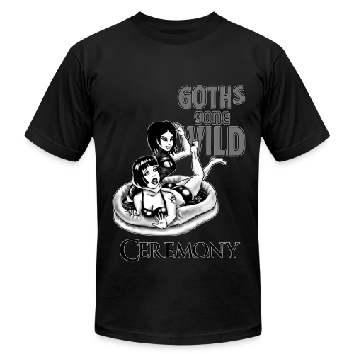 Goths Gone Wild - design by Sponge Studio - Men's Fine Jersey T-Shirt