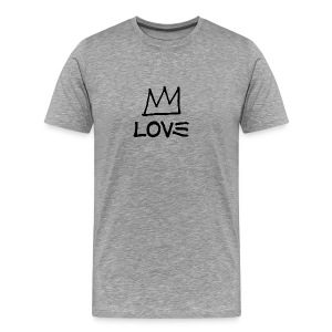 Love - Artistic Crown Design (Black) - Men's Premium T-Shirt