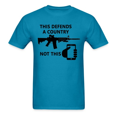 Guns Defend A Country - Men's T-Shirt