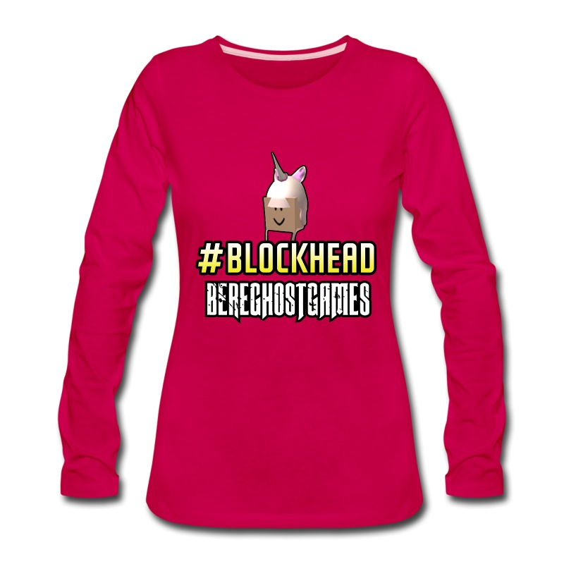 Ladies Long Sleeve #Blockhead - Women's Premium Long Sleeve T-Shirt
