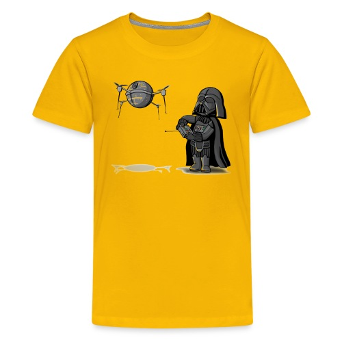 Drone Vader - Yellow - Kids' Premium T-Shirt