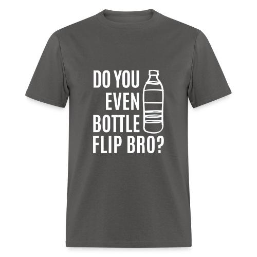 Adult Bottle Flip Tee White Ink - Men's T-Shirt