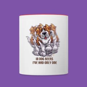 Dog Beers St. Bernard Coffee - Contrast Coffee Mug