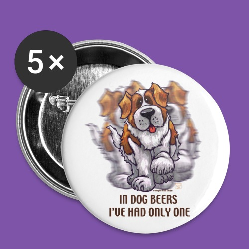 Dog Beers St. Bernard Button - Large Buttons