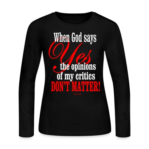 When God says YES Women's Long Sleeve Jersey - Women's Long Sleeve Jersey T-Shirt