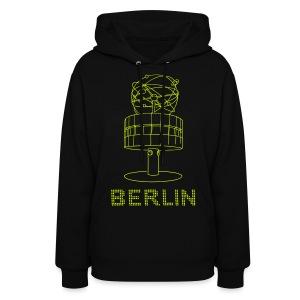 World time clock Berlin (neon-yellow) - Women's Hoodie