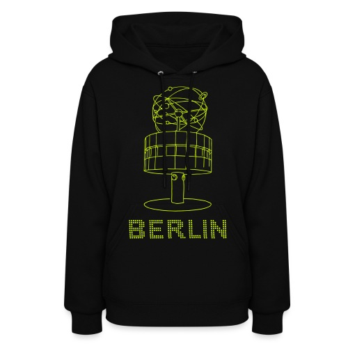 World time clock Berlin (neon-yellow) - Women's Hoodie