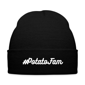 Potato Fam Beanie - Knit Cap with Cuff Print