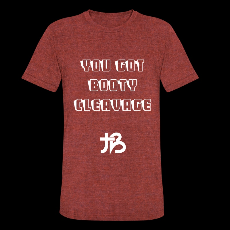 'Booty Cleavage' Unisex Tee  - Unisex Tri-Blend T-Shirt by American Apparel