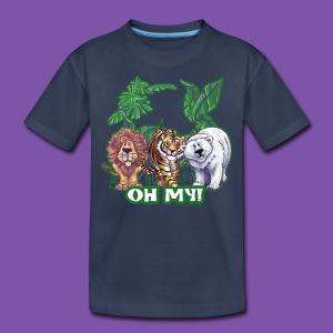 Animal Parade Lion Tiger and Bear Oh My - Kids' Premium T-Shirt