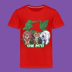 Animal Parade Lion Tiger and Bear Oh My - Toddler Premium T-Shirt