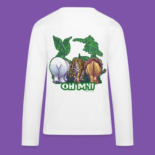 Animal Parade Lion Tiger and Bear Oh My - Kids' Premium Long Sleeve T-Shirt