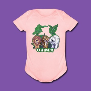 Animal Parade Lion Tiger and Bear Oh My - Short Sleeve Baby Bodysuit