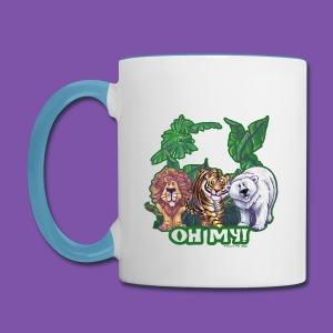 Animal Parade Lion Tiger and Bear Oh My - Contrast Coffee Mug